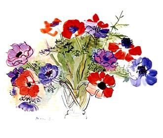 Raoul Dufy ~ Anemones